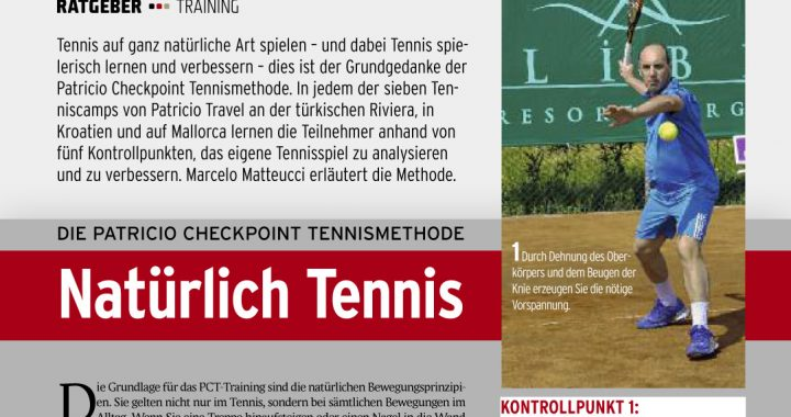 PATRICIO CHECKPOINT TENNISMETHODE - Natürlich Tennis